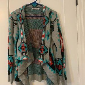 Awesome Boho Aztec Open Cardigan